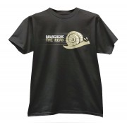 t shirt noir escargot rapide